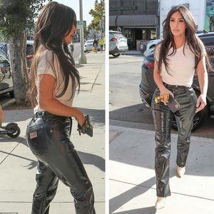 Wrangler vintage faux leather pants sz 11 (v221)